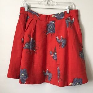 Odille Skirts - Anthropologie Wool Red Skirt